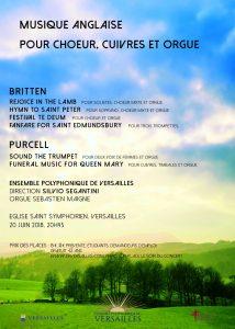 Musique anglaise pour chœur, cuivres et orgue